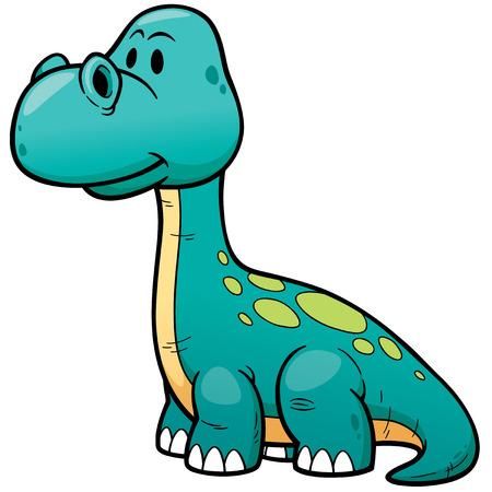 dinosaurio caricatura: ilustración de dibujos animados del dinosaurio Vectores