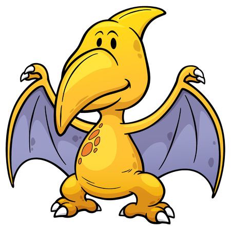 pteranodon: illustration of Cartoon pteranodon