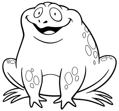 Ilustración De Dibujos Animados De La Rana Conjunto Ilustraciones ...