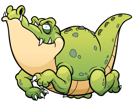 illustration of Cartoon crocodile 版權商用圖片 - 52096322