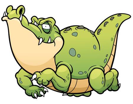 selva caricatura: ilustración de dibujos animados de cocodrilo