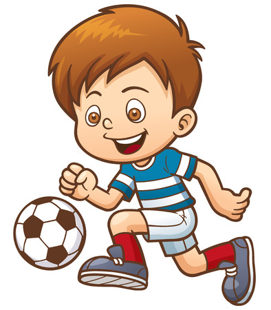 cartoon kid: illustration of Cartoon Soccer player