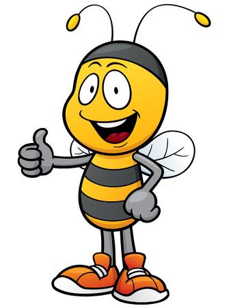 Ilustración de dibujos animados de la abeja Foto de archivo - 53115052