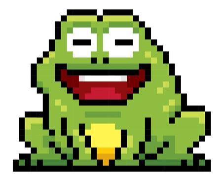 froggy: Illustration of cartoon Frog - Pixel design