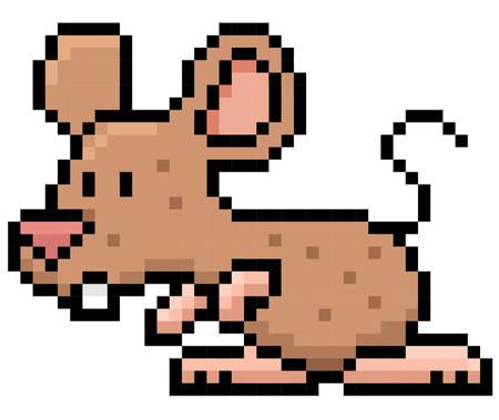 Illustration of cartoon rat - Pixel design