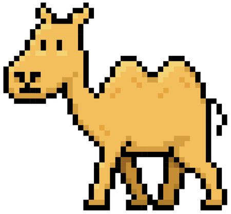borden: illustration of Cartoon Camel - Pixel design