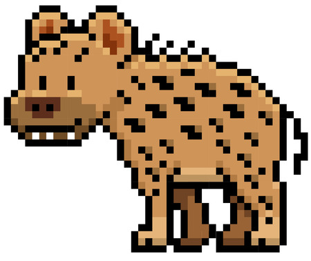 hyena: illustration of Cartoon Hyena - Pixel design Illustration