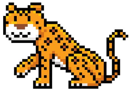 cartoon jaguar: illustration of Jaguar cartoon - Pixel design Illustration