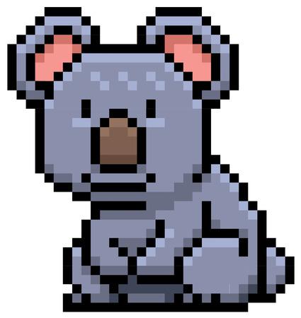 koala bear: illustration of Koala Bear - Pixel design