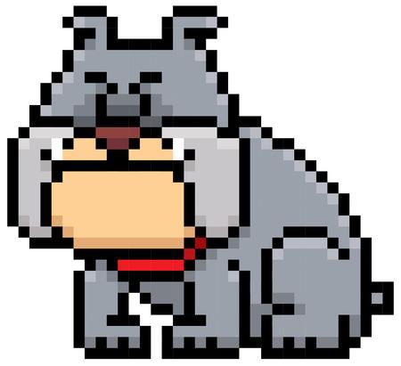 faithful: illustration of cartoon Dog - Pixel design