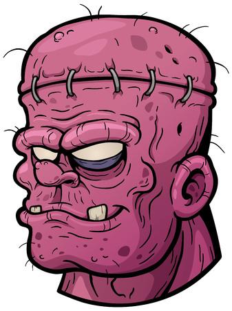 maggot: illustration of Cartoon zombie face