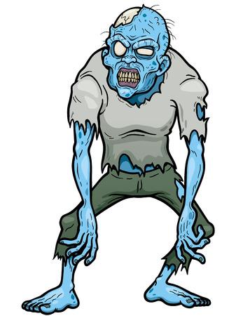 walking corpse: illustration of Cartoon zombie Illustration