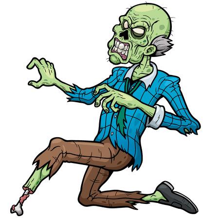 ilustración de Zombie de dibujos animados