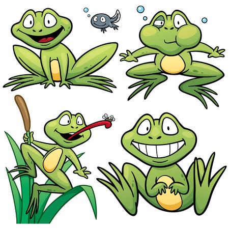 cute frog: illustration of Frog Set cartoon