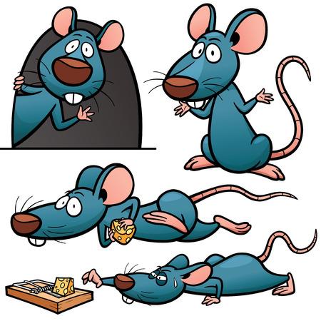 beckon: Vector illustration of Cartoon Rat Character Set