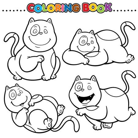 wiskers: Cartoon Coloring Book - Cat