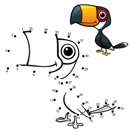 hornbill: Vector Illustration of Education dot to dot game - Hornbill Illustration