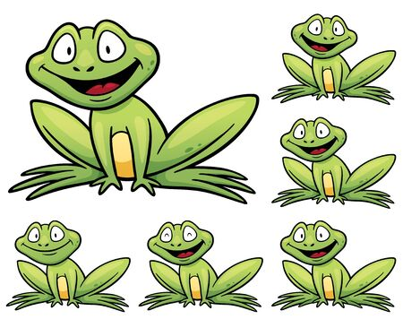 difficulties: Vector Illustration of make the choice matching - Frog Illustration