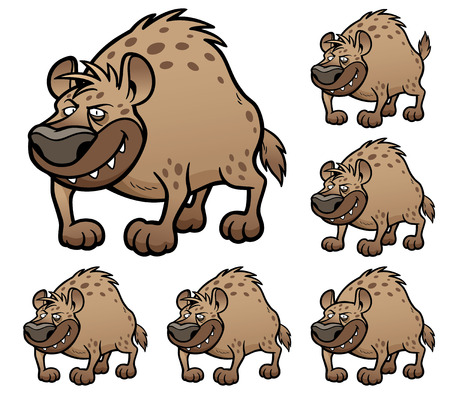 hyena: Vector Illustration of make the choice matching - Hyena