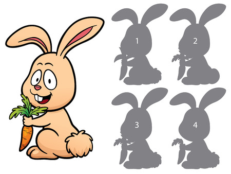right choice: Vector Illustration of make the right choice and connect shadow matching - Rabbit Illustration