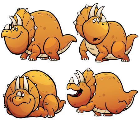 beast: Vector illustration of Dinosaurs Cartoon Character Set Illustration