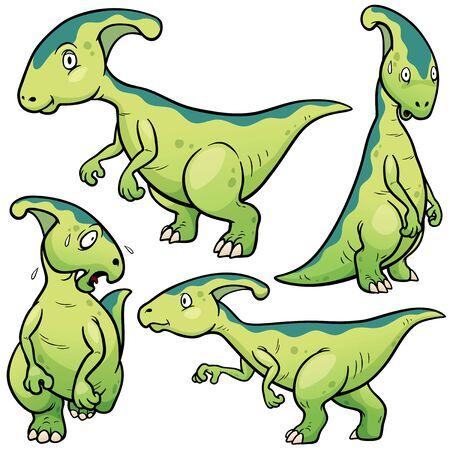 Vector illustration of Dinosaurs Cartoon Character Set Illustration