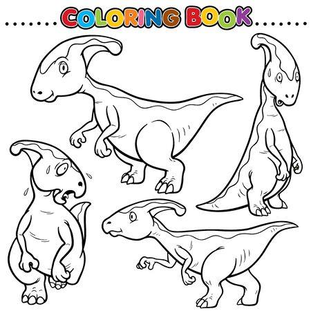 petrifying: Cartoon Coloring Book - Dinosaurs Character