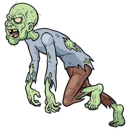 Vektor-Illustration von Cartoon Zombie