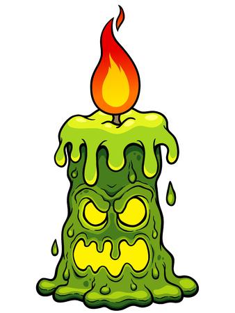 Vector illustration of Cartoon Candle Monster Illustration