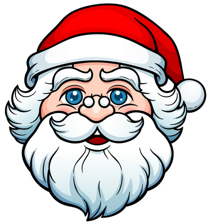 Vector illustration of Cartoon Santa Claus Face