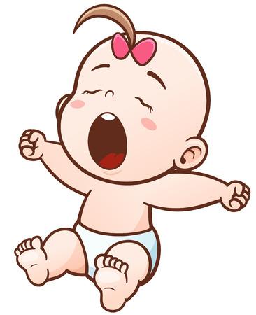 romper suit: Illustration of Cartoon Cute Baby sleepy Illustration