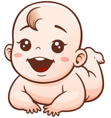 Illustration of Cartoon Cute Baby
