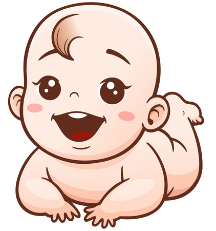 Illustration of Cartoon Cute Baby