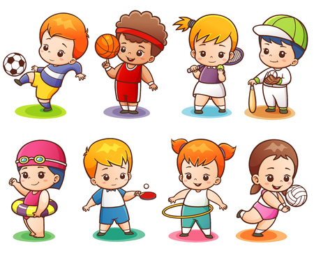 illustration of Cartoon Sport character