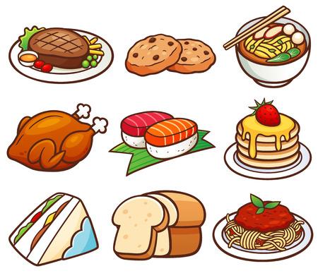 Vector illustration of Food set