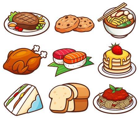 food: Vector illustration of Food set