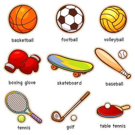 sport cartoon: Vector illustration of Cartoon Sport vocabulary