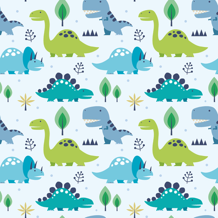 pattern: Artistic Vector illustration seamless pattern with Dinosaurs. Illustration