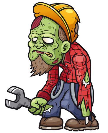 Vector illustration of Cartoon zombie 일러스트
