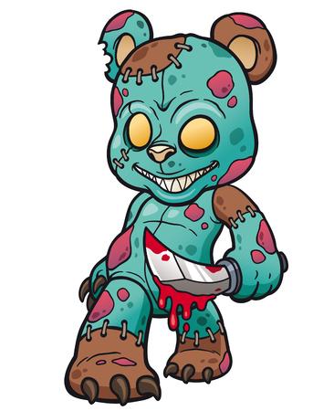 Cartoon Evil teddy bear