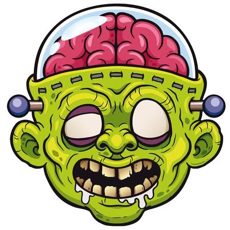 Vector illustration of Cartoon Monster Zombie