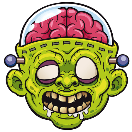 Vector illustration of Cartoon Monster Zombie