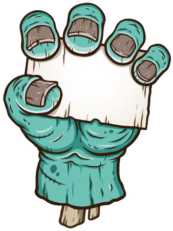 Vector illustration of Cartoon Zombie hand