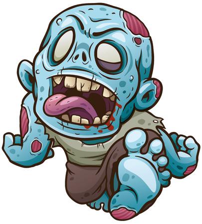 Ilustración de vector de Cartoon Zombie Ilustración de vector
