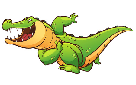 Vector illustration of Cartoon crocodile Иллюстрация