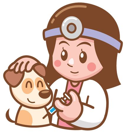 Vector illustration of Cartoon Pet Doctor