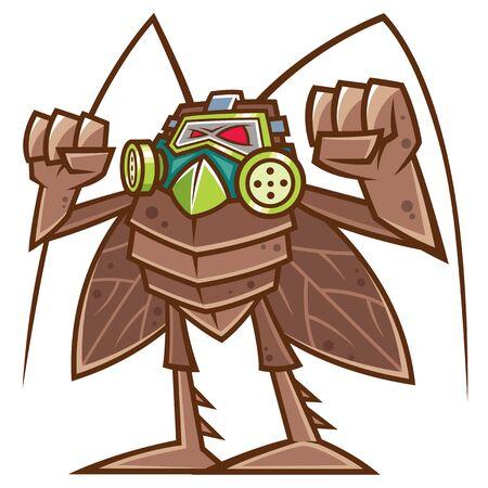 Vector illustration of cartoon Cockroach Vector Illustration