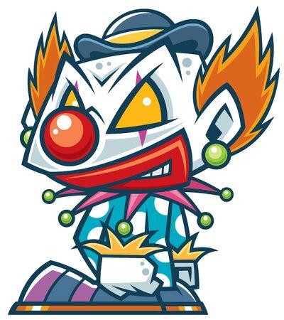 Vector illustration of Cartoon Clown