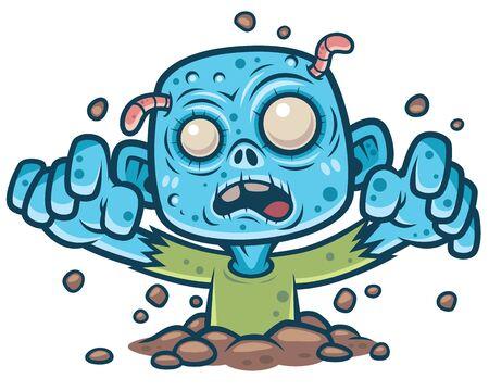 Vektor-Illustration von Cartoon-Zombie Vektorgrafik
