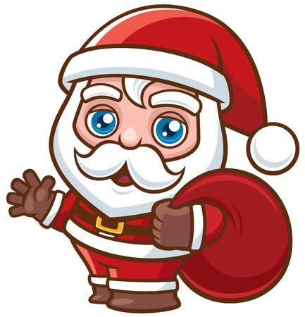 Vector Illustration of Cartoon Santa Claus